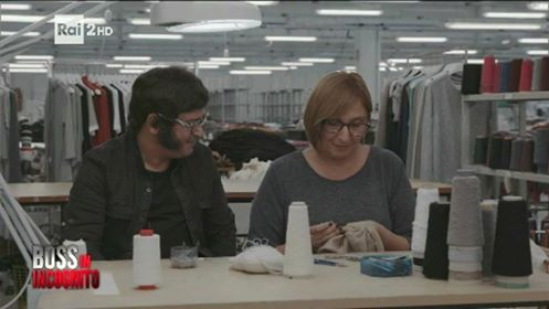 Guido and Antonella during Undercover Boss