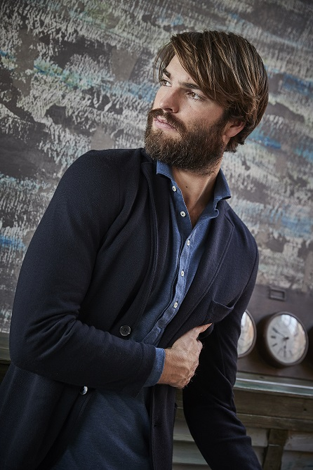 Easy wear: giacca in maglia in aKtive Wool con polo piquet