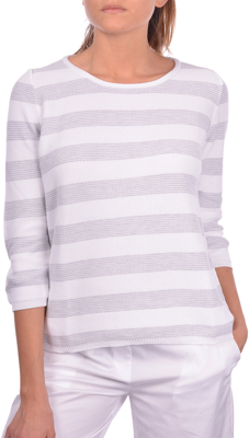 Picture of HONEYCOMB STRIPED ROUND NECK