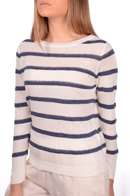 Picture of LINEN STRIPED BOAT NECK