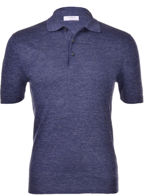 Picture of KNITTED LINEN POLO