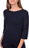 Picture of 3/4 SLEEVES RIBBED BOAT NECK