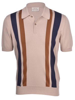 Picture of ORGANIC COTTON STRIPED KNIT POLO