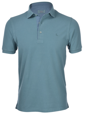 Picture of VINTAGE PIQUET POLO WITH DENIM PROFILE