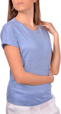 Picture of LINEN T-SHIRT WITH SWAROVSKI
