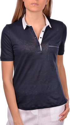 Picture of JERSEY LINEN POLO WITH SWAROVSKI DETAILS