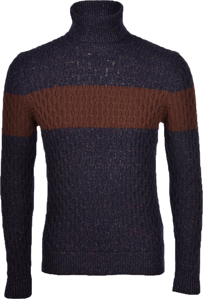 Cashmere blend cable turtleneck
