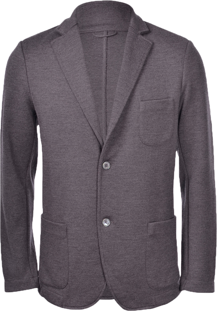 Travel Wool notch lapel knit jacket